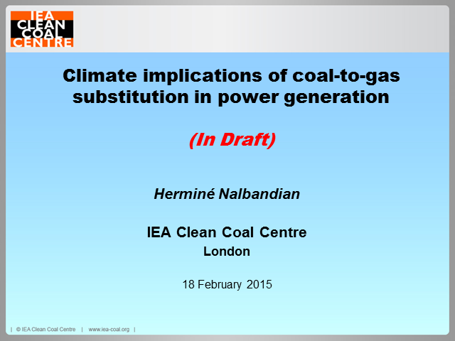 Climate implications of coal-to-gas substitution in power generation