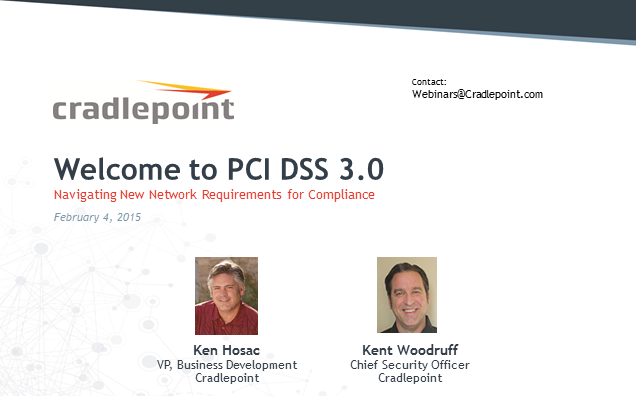Welcome to PCI DSS 3.0