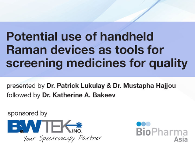 Potential use of handheld Raman devices as tools for screening medicines