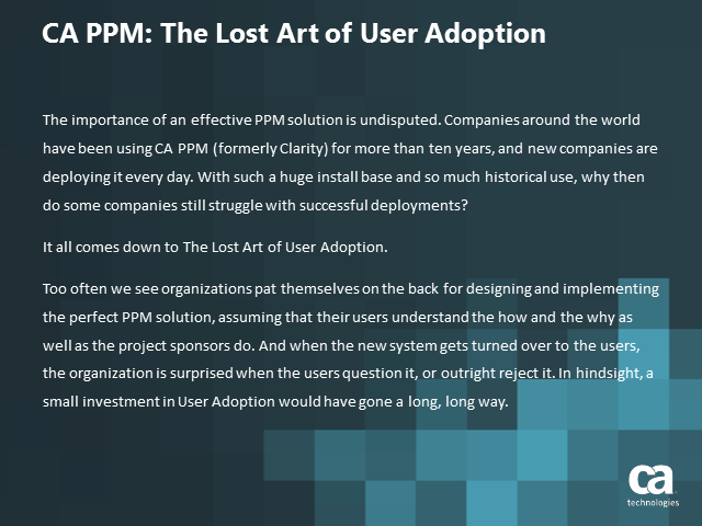 The Lost Art of User Adoption