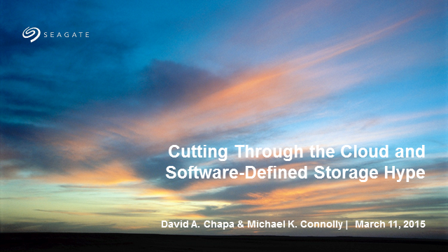 Cutting Through the Cloud and Software-Defined Storage Hype