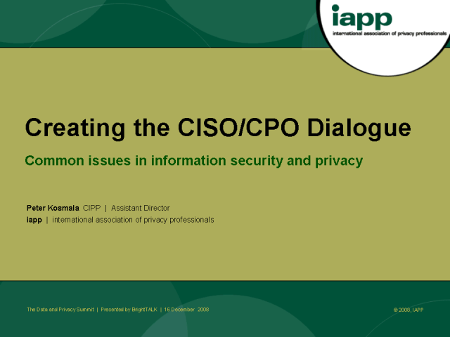 Creating the CISO/CPO Dialogue