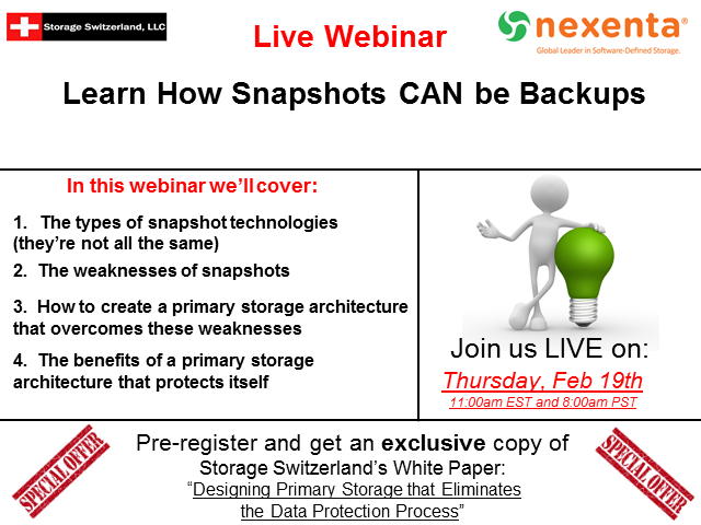 How Snapshots CAN be Backups