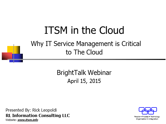 ITSM in the Cloud