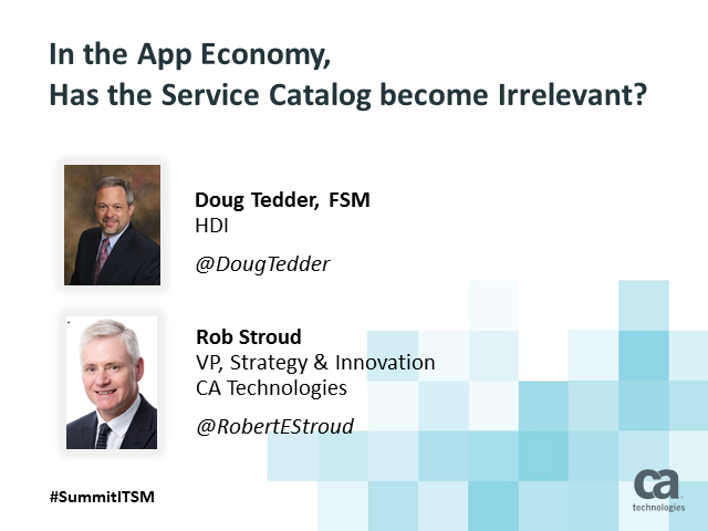 In the App Economy, has the Service Catalog become Irrelevant?