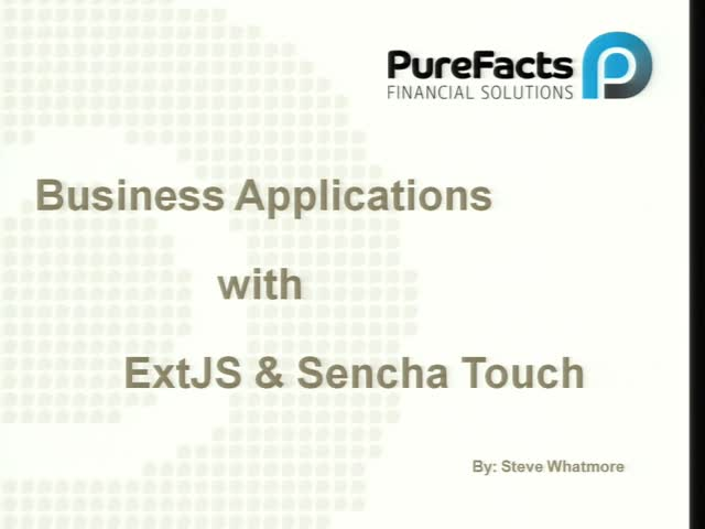 Business Applications with Ext JS & Sencha Touch