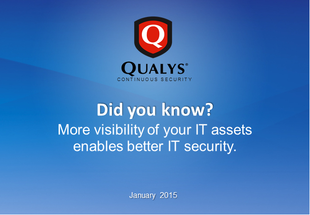 Did you know? More visibility of your IT assets enables better IT security