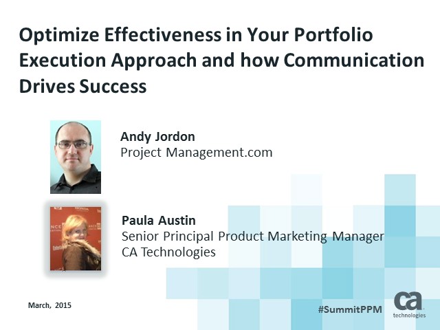 Optimize Effectiveness in Your Portfolio Execution Approach