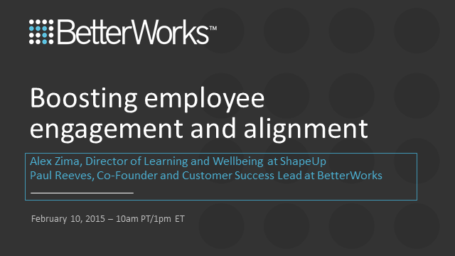 Boosting Employee Engagement and Alignment