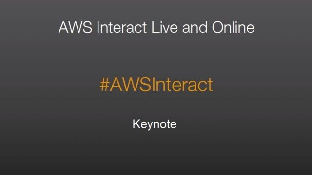 AWS Interact Milan - Keynote by Danilo Poccia (Solution Architect AWS)