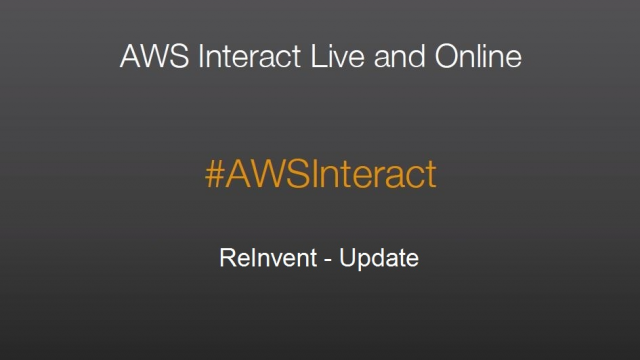 AWS Interact Milan - Re:Invent Update by Carlo Conde (Sr.Technical Evangelist)