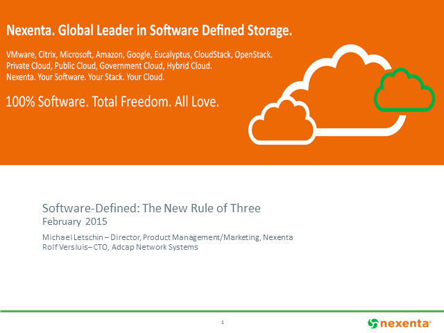Enterprise Class Storage: the new rule of three