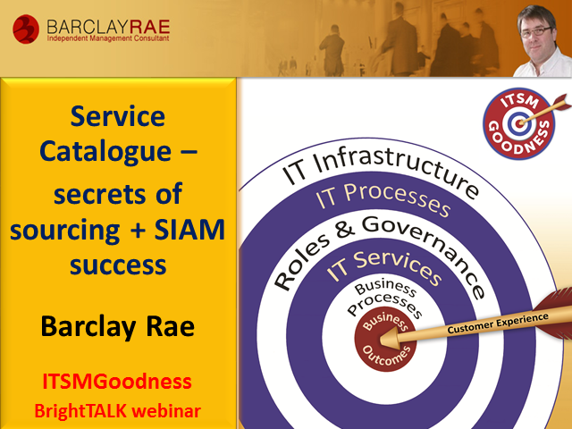 Service Catalogue – secrets of sourcing and SIAM success
