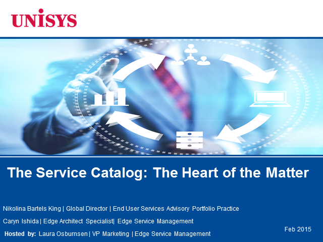 The Service Catalog: The Heart of the Matter