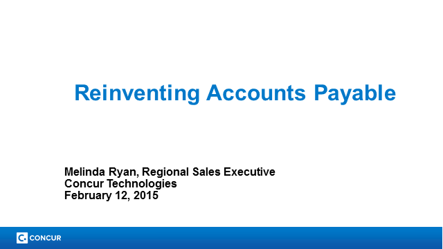 Reinventing Accounts Payable