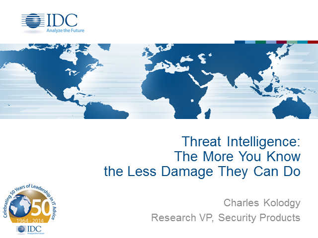 Attack Intelligence: The More You Know, The Less Damage They Can Do