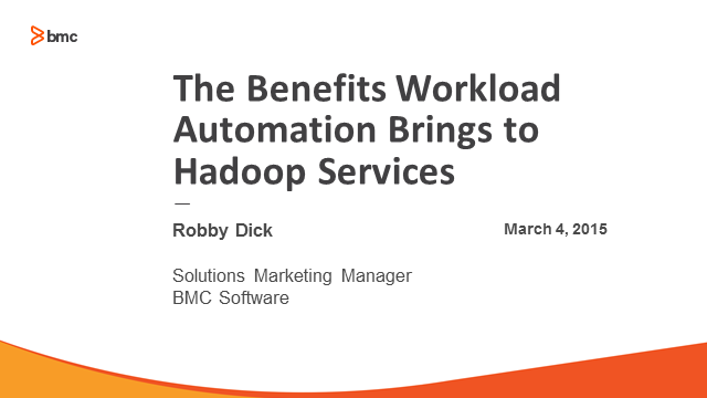 The Benefits Workload Automation Brings to Hadoop Services