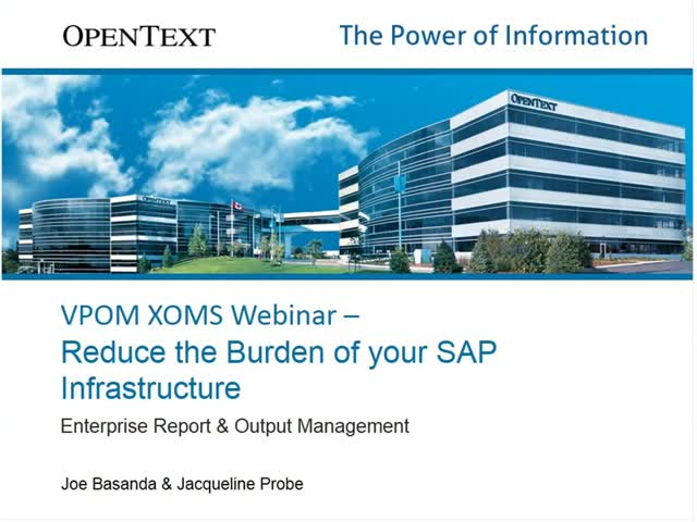 Start enhancing your SAP output with OpenText Report Output Manager (XOMS)