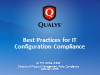Best Practices for IT Configuration Compliance