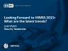 Looking Forward to HIMSS 2015:  What are the latest trends?