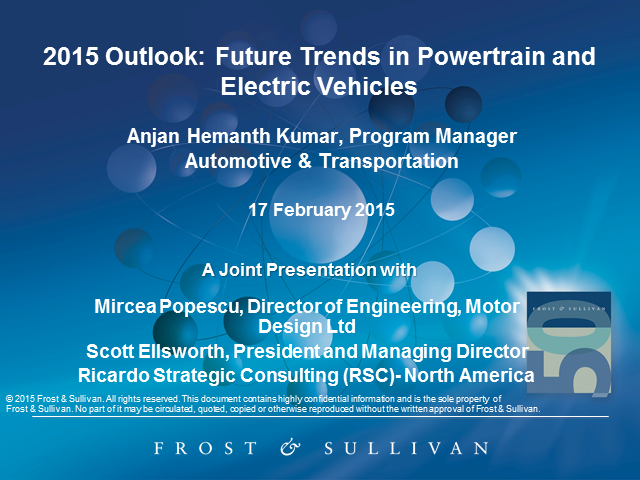 2015 Outlook: Future Trends in Powertrain and Electric Vehicles