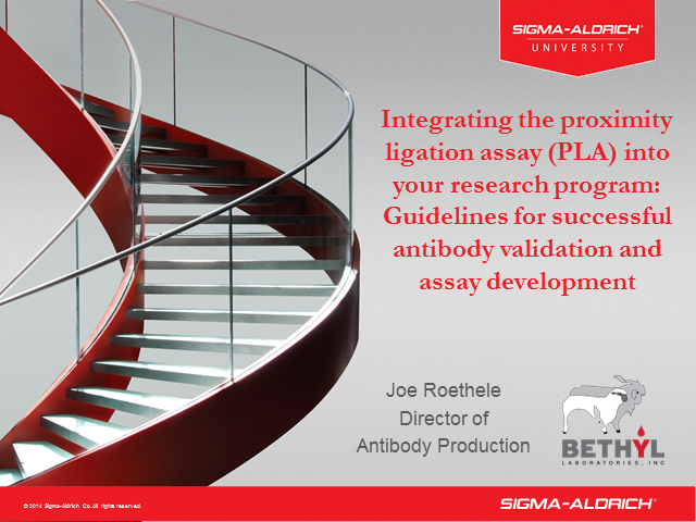 Integrating the Proximity Ligation Assay (PLA) into your Research Program 02