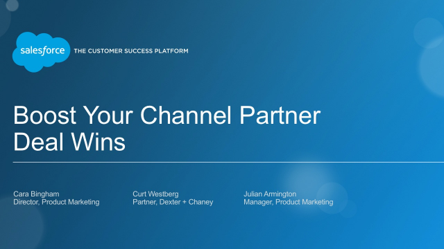 Boost Your Channel Partner Deal Wins