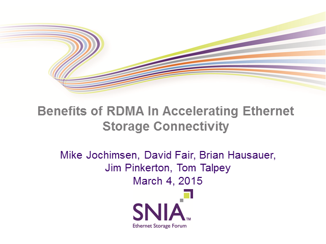 Benefits of RDMA in Accelerating Ethernet Storage Connectivity