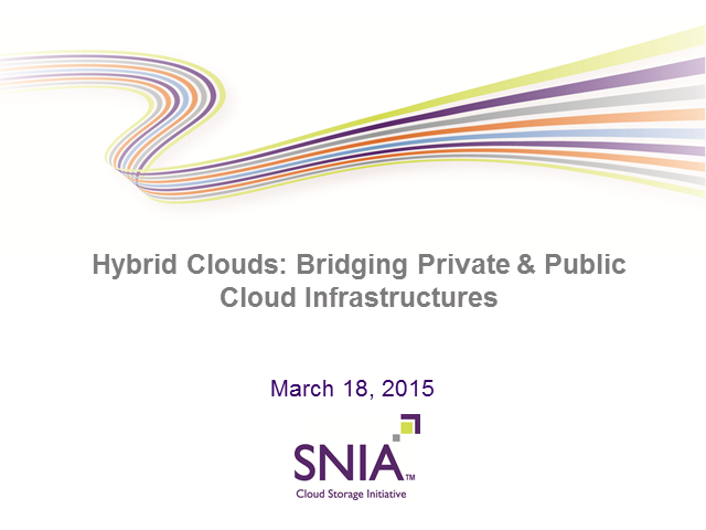 Hybrid Clouds: Bridging Private & Public Cloud Infrastructures