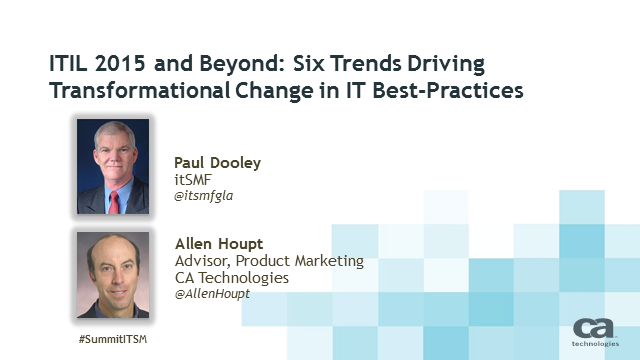 ITIL 2015: Six Trends Driving Transformational Change in IT Best-Practices