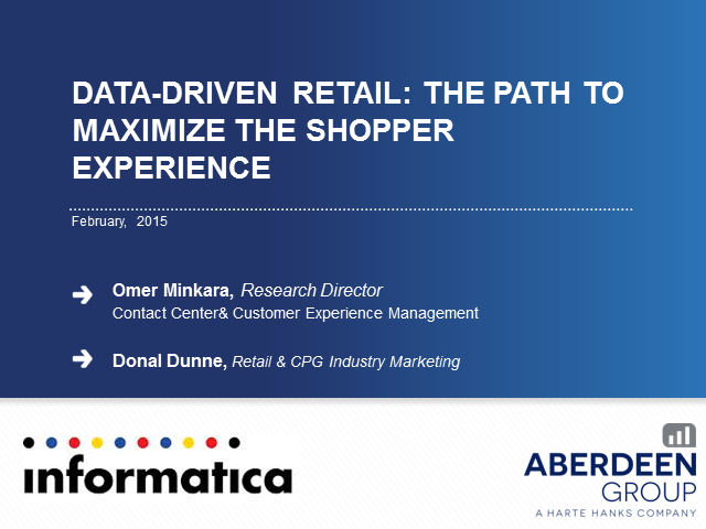 Data-Driven Retail: The Path to Maximize the Shopper Experience