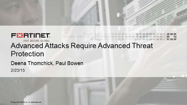 Advanced Attacks Require Advanced Threat Protection