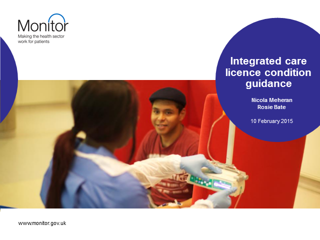 Integrated care licence condition guidance