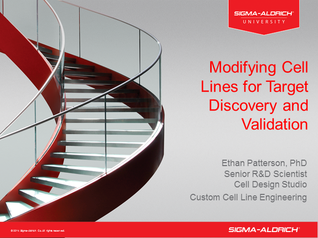 Modifying Cell Lines for Target Discovery and Validation