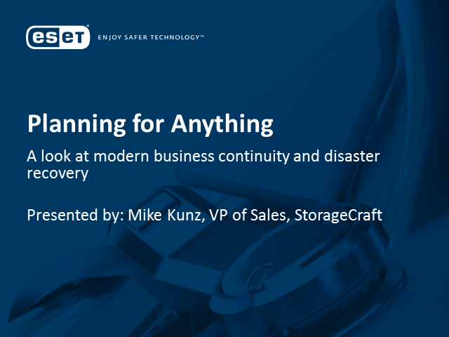 Planning for anything: business continuity and disaster recovery