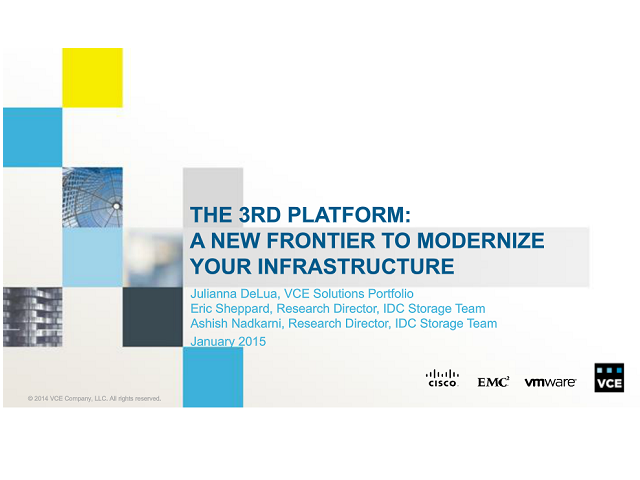 The 3rd Platform: A New Frontier to Modernize Your Infrastructure