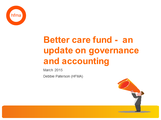 Better Care Fund – accounting and assurance issues