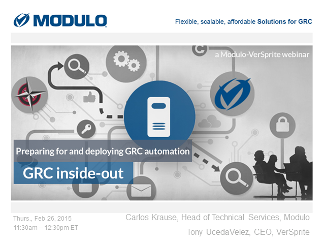 GRC inside-out: Preparing for & deploying GRC automation