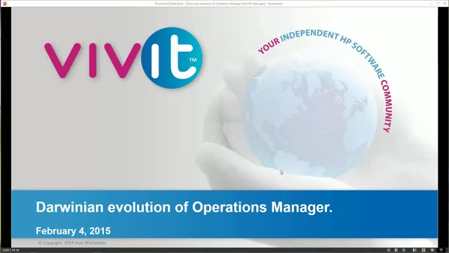 Darwinian Evolution of Operations Manager