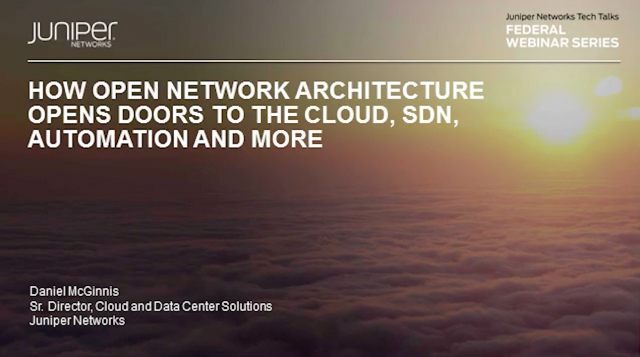 How Open Network Architecture Opens Doors to the Cloud, SDN, Automation and More