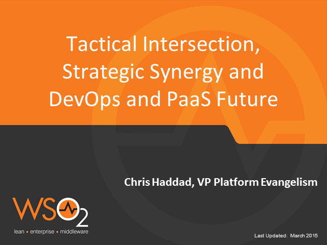 Tactical Intersection, Strategic Synergy and Future of DevOps and PaaS