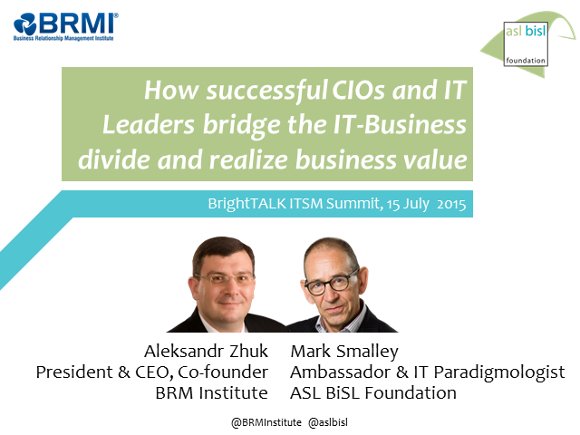 How successful CIOs & IT Leaders bridge the IT-Business divide to realize value