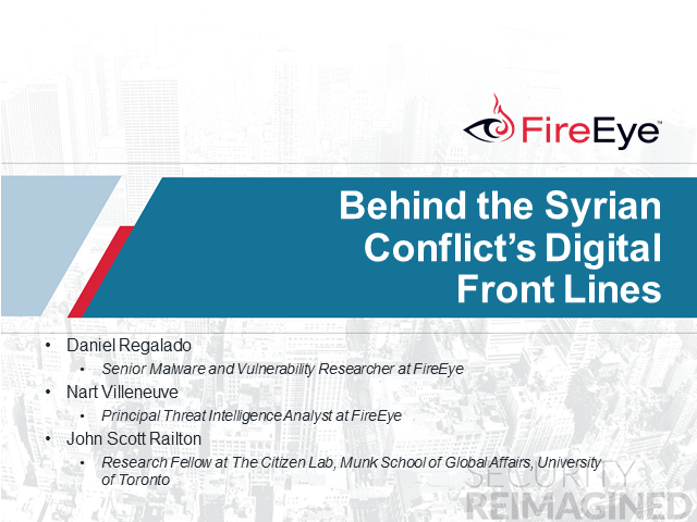 Behind the Syrian Conflict's Digital Front Lines
