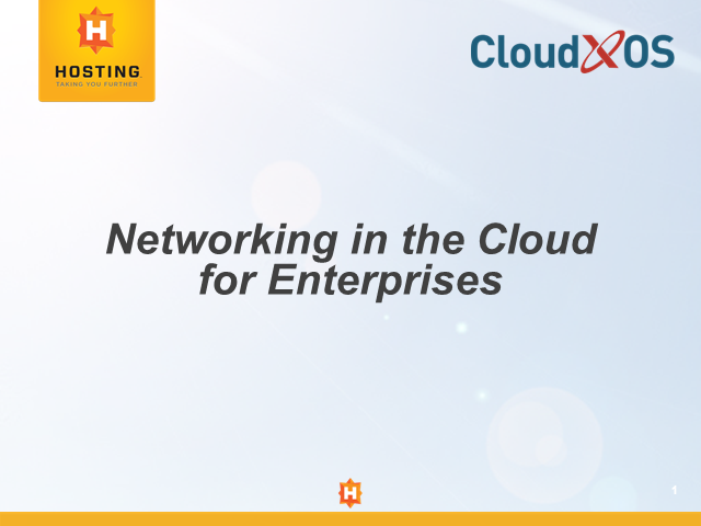 Networking in the Cloud for Enterprises