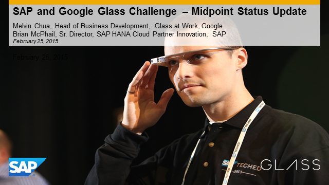 SAP and Google Glass Challenge: Midpoint Status Update for Partners