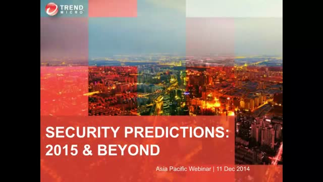 Security Predictions: 2015 & Beyond