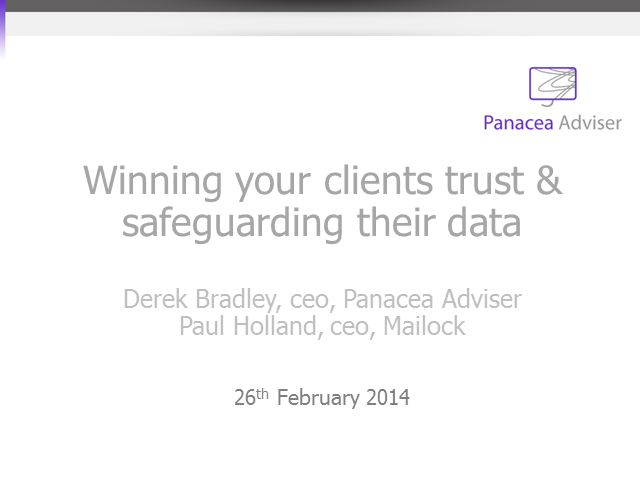 Winning your clients trust and safeguarding their data