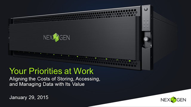 Tailored Storage Performance for your Business Priorities