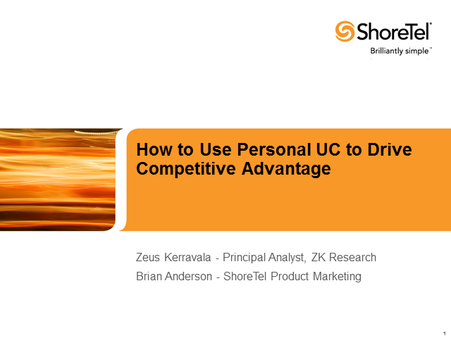 How to Use Personal UC to Drive Competitive Advantage