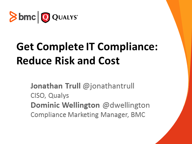 Get Complete IT Compliance: Reduce Risk and Cost